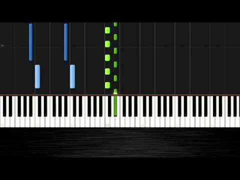 Ludovico Einaudi - Primavera - Piano Tutoral (50% Speed) by PlutaX - Synthesia