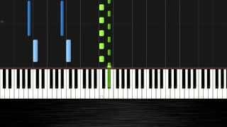 Ludovico Einaudi - Primavera - Piano Tutoral (50% Speed) by PlutaX - Synthesia