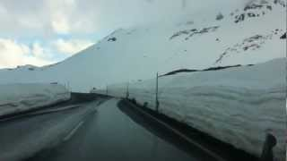 The Alps - Austria, Driving over snow covered Peak