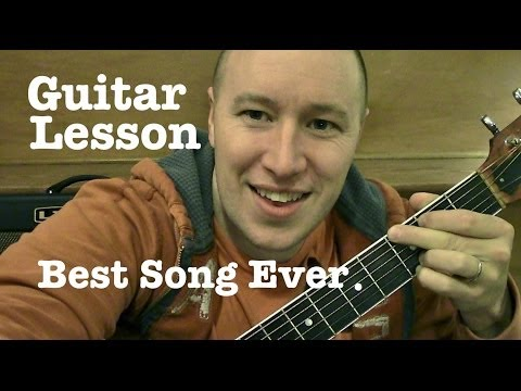 Best Song Ever- Guitar Lesson / Tutorial - One Direction (Standard Chord Version)