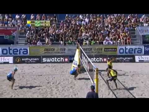 Alison/Emanuel(BRA) 2x1 Marcio/Ricardo(BRA) Kristiansand, Norway - 3rd Place Match