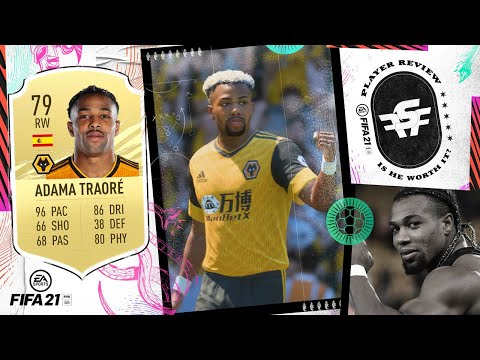 Fifa 21 Adama Review 79 Adama Traore Player Review Youtube
