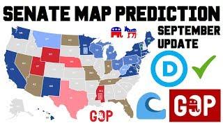 2018 Senate Predictions Midterm Elections - Senate Map Race Ratings Analysis September 2018 Update