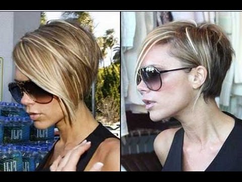 How To Style Hair Like Victoria Beckham Victoria Beckham Short Bob Hairstyle  Youtube