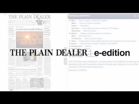 Registering for The Plain Dealer e-edition