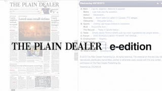 Registering for The Plain Dealer e-edition