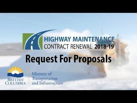 Highway Maintenance Contract Bid Opportunities - Province of