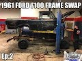1961 Ford F100 - Full Frame Swap - Project Black Sheep, Grand Marquis Frame Swap Ep:2