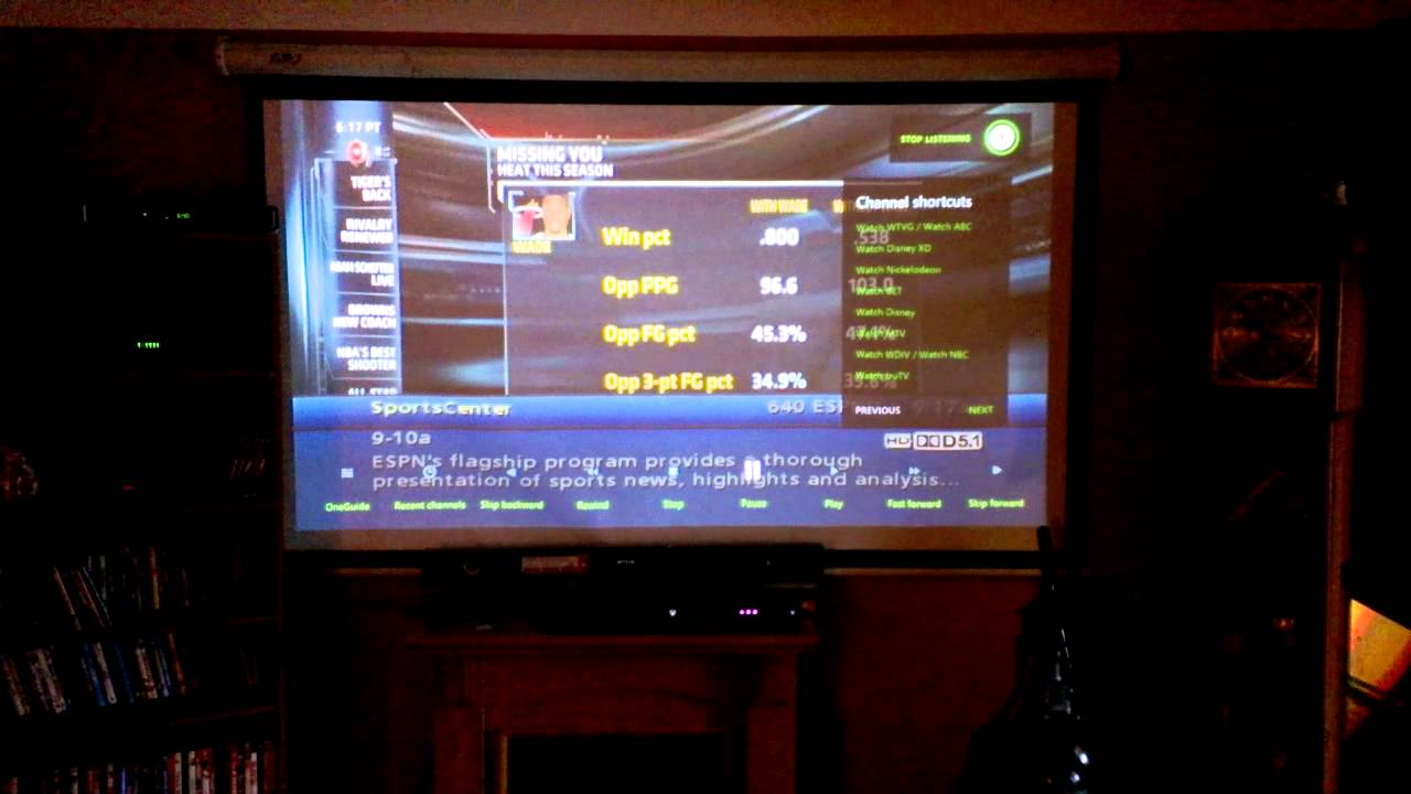 Benq Ms616st Projector Connected To Xbox One Youtube