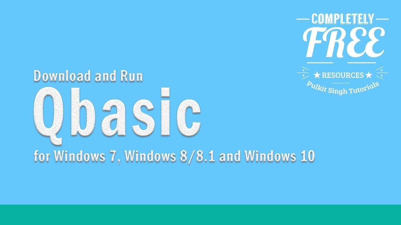 Qbasic download for windows 10.