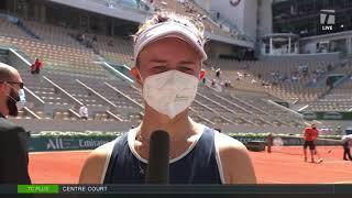 Barbora Krejcikova: 2021 Roland Garros Quarterfinal Win Interview
