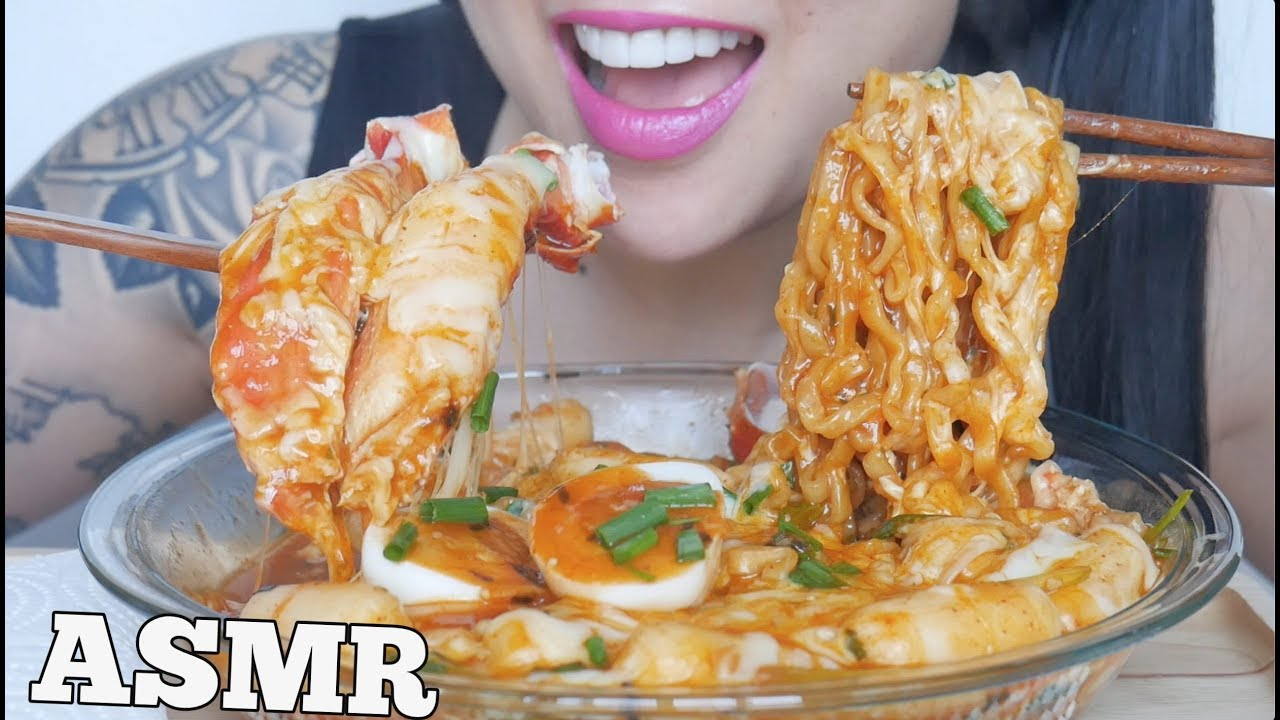 Asmr Spicy Cheesy Noodles Cheesy Rice Cakes King Crab Eating Sounds No Talking Sas Asmr Youtube از کانال come and watch what ever you love. asmr spicy cheesy noodles cheesy rice cakes king crab eating sounds no talking sas asmr
