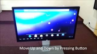 [HD] ELECTRIC TV MOBILE STAND (Angle Adjustable)