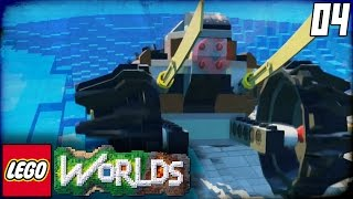 Lego Worlds Part 4 - 'WE BROKE THE GAME!!!' (Lego Open World Sandbox Gameplay)