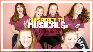 KIDS react to Musicals   Copper Studios
