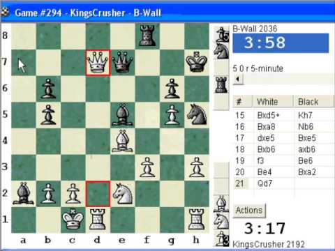 Chessworld.net : Blitz #249 vs. B-Wall (2036) - Vienna game (C25) (Chessworld.net)
