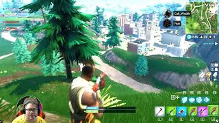 Fear gets his first kill in Fortnite