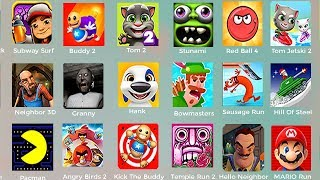 Simon's Cat,Swamp Attack,Sonic Dash,PACMAN,Mega Run,Angry birds Transformers