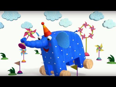 Теремок песенки для детей - Деревяшки: Ветерок - Мультики для детей и малышей про животных