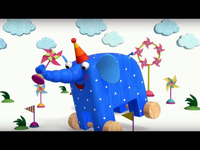 Теремок песенки для детей — Деревяшки: Ветерок — Мультики для детей и малышей про животных