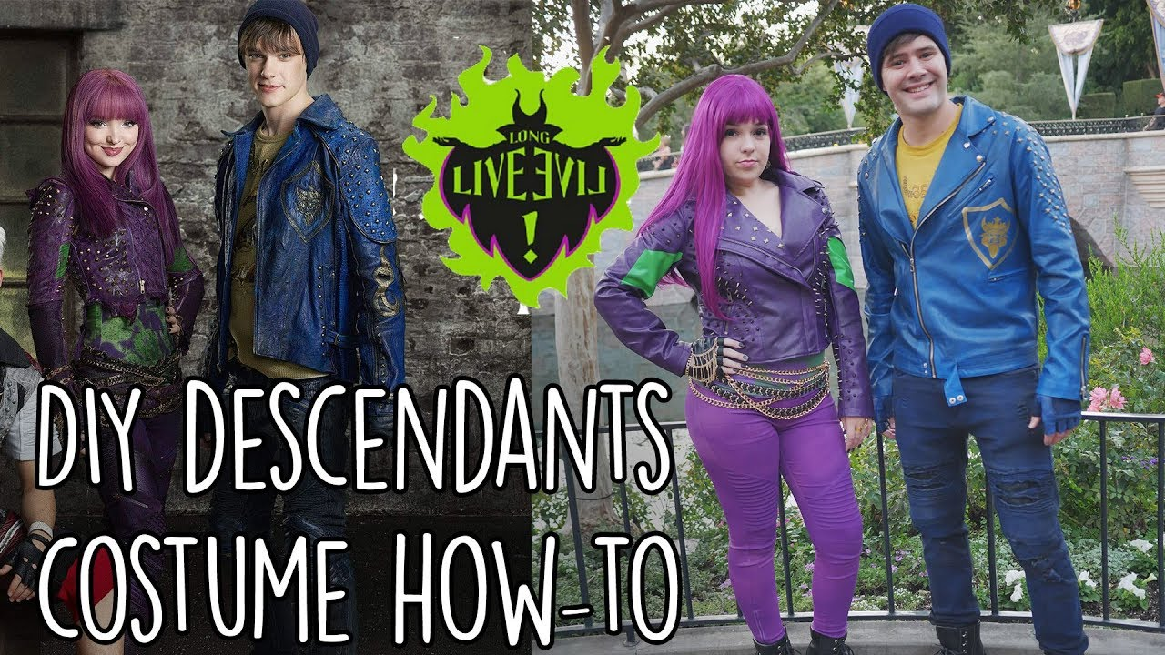 DIY Disney Descendants Costumes - Mal and Ben | SoundProofLiz