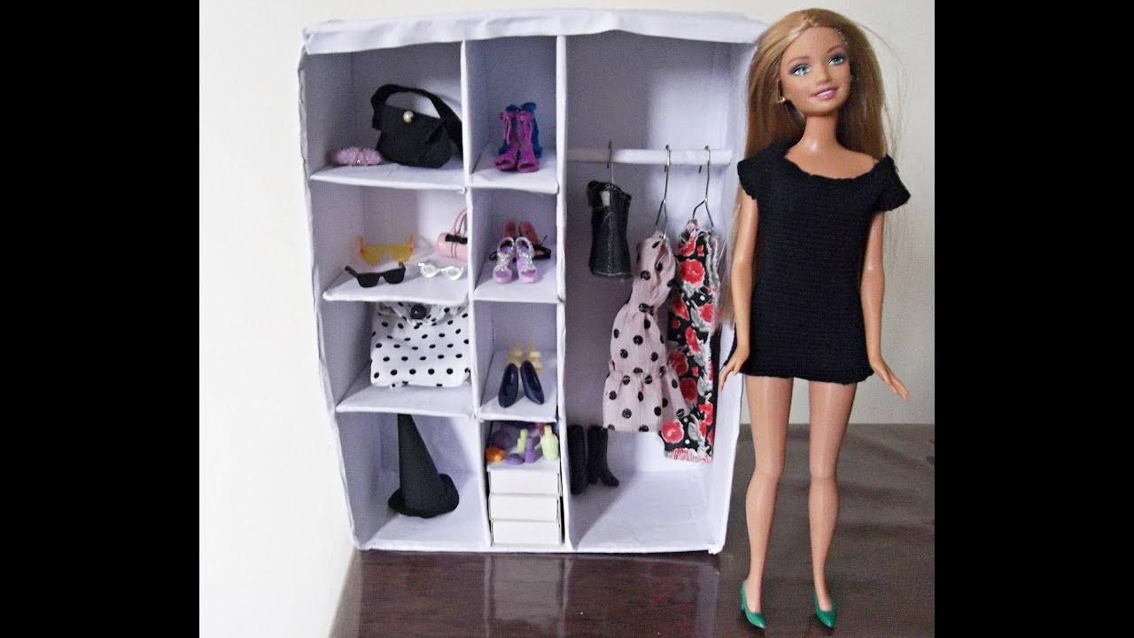 Diy Closet For Doll Barbie Tutorial Passo A Passo