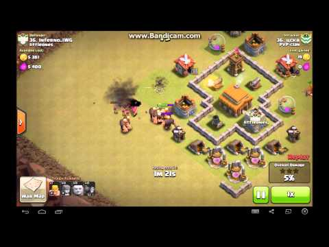 Clash of clans maxed th3 best war base defense clip youtube