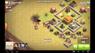 Clash Of Clans MAXED TH3 Best War Base + Defense Clip!