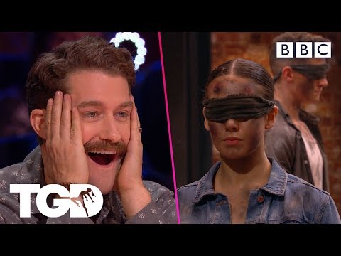 Vale perform their entire audition BLINDFOLDED!   The Greatest Dancer   Auditions Week 2