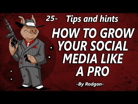 25- How to grow your social media like a pro!