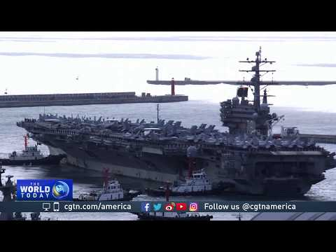 USS Ronald Reagan docks in Busan as show of force against DPRK