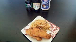 """CRISPY BEER BATTER FISH AND CHIPS  """