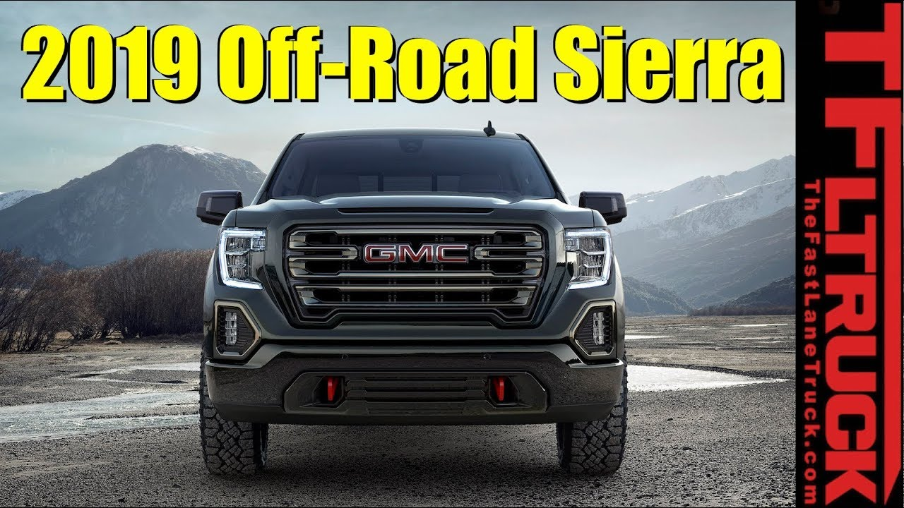GMC debuts first off-road package on 2019 Sierra AT4