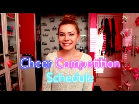 Cheer Competition Schedule 2015-2016 - MissKyleesBeauty - 동영상