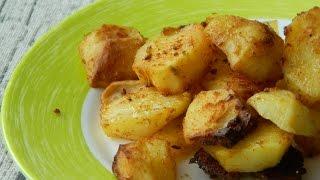 Картошка запеченная  с чесноком в духовке