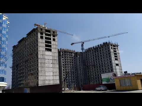 Строящийся жилой дом по ул Лорсанова   март 2020, Грозный, Чечня