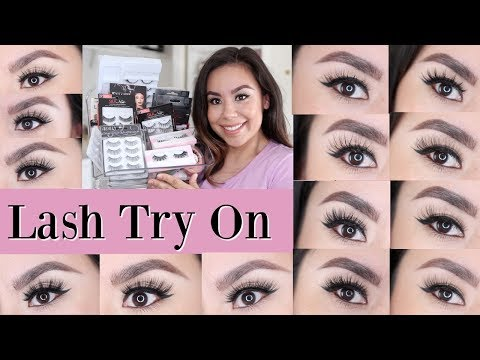 f299c131001 Lash Haul Try On   Drugstore Lashes   Salon Perfect, Kiss, Eyelure,Ardell,  Koko Lashes, Lash Pop - YouTube