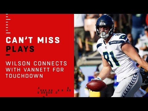 Russell Wilson Connects with Nick Vannett for First TD of Game!