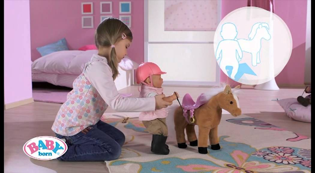 Baby Born 174 Interactive Horse Youtube