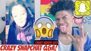 crazy wild snapchat q    found my new girlfriend