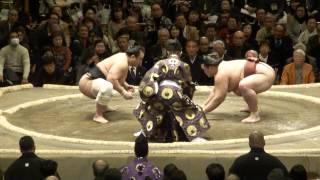 20130113 大相撲初場所初日 稀勢の里vs安美錦 キセノン万全.