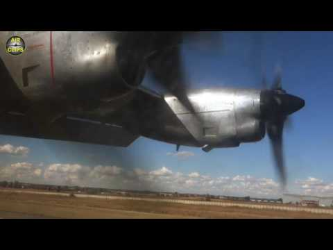 RARE! Safair Lockheed L-100 Hercules Passenger-View Takeoff, seen from Cargo Bay!!! [AirClips]