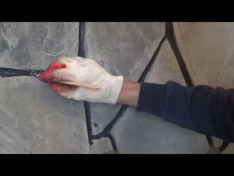 Как обложить печь камин камнем речным плитняком как сделать раствор часть-3