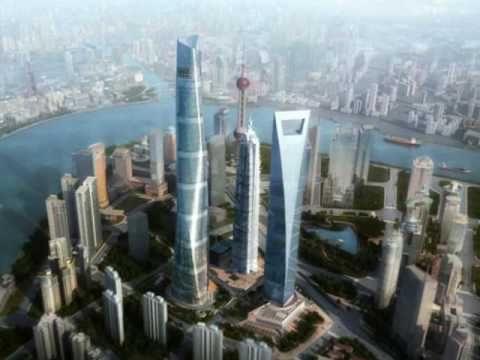 China's Spiraling Shanghai Tower (Tallest in China)