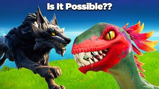 Is It Possible to Win a Match by Only Using Wildlife?? - Fortnite Experiments