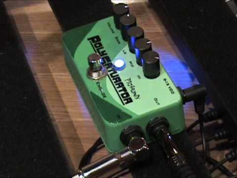 Pigtronix Polysaturator guitar effects pedal demo with Tele & Dr Z MAZ amp