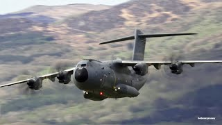 "Awesome Low Airbus A400M Mach Loop "" Blue Note-Like "" Flyby."