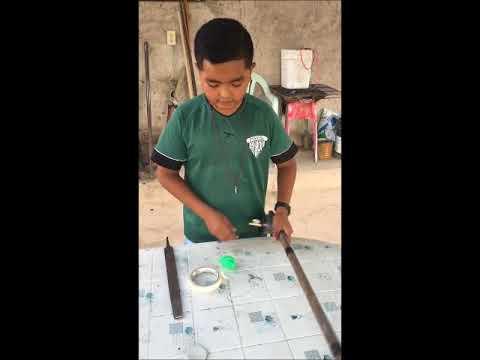 Como Hacer Una Caña De Pescar Para Niños Youtube