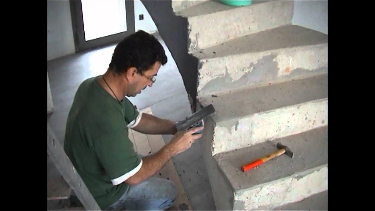 Escalier en b ton cir youtube for Carreler un escalier exterieur en beton