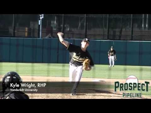 Kyle Wright, Vanderbilt University, Pitching Mechanics at 200 fps #mlbdraft